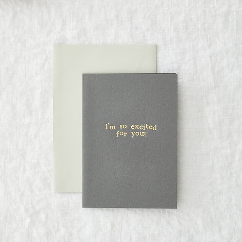 So excited - Greeting Card
