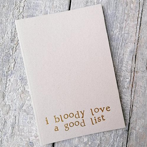 Bloody love list A5 Foil Notebook