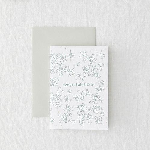 Congratulations - plantable greeting card