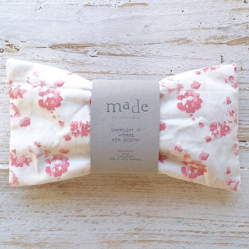Lavender and wheat pillow - pink floral