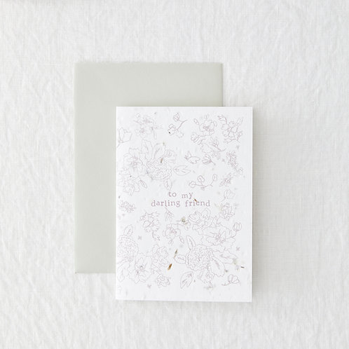 Darling Friend - Seeded Card