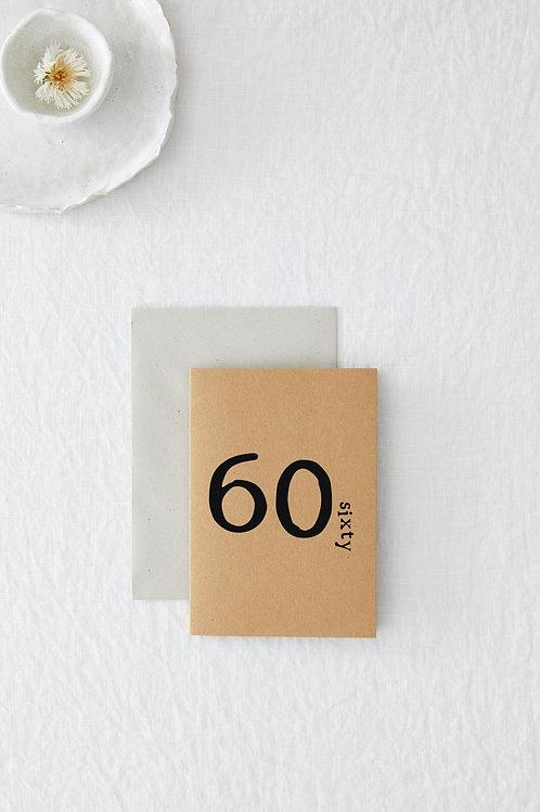 60 Greeting Card