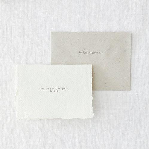 Simple Like You Greeting Card
