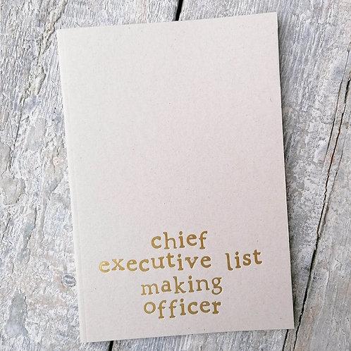 Chief list maker A5 Foil Notebook