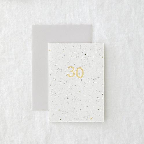 Hop 30 Greeting Card