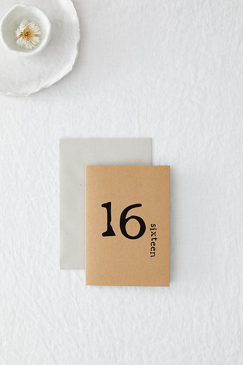 16 Greeting Card