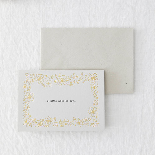 A Little Note To Say Greeting Card