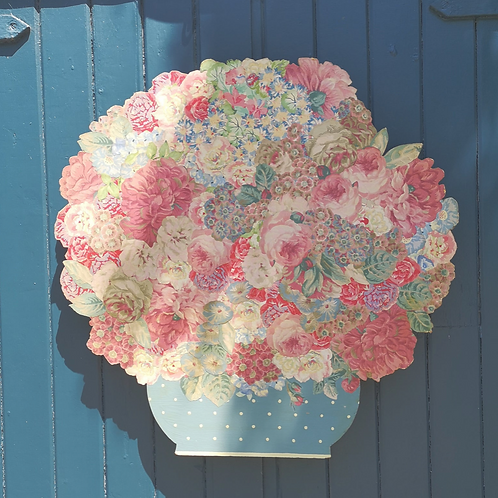 Large Decoupage Bouquet Of Flowers