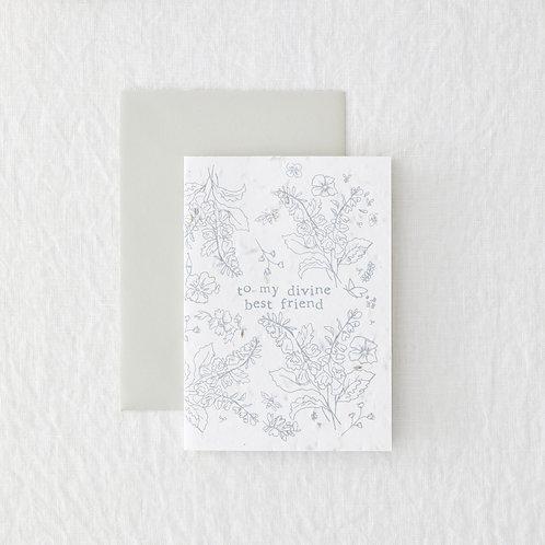 Divine best friend Greeting Card
