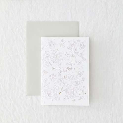 Birthday Petal - Seeded Card