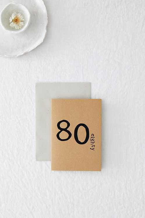 80 Greeting Card