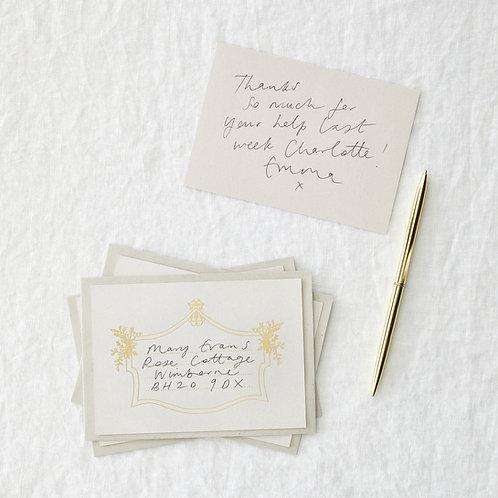Pack of 4 foil boarder postcards