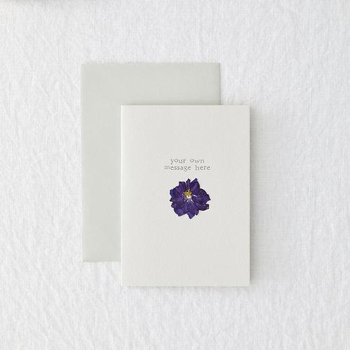 Pressed flower personalised card