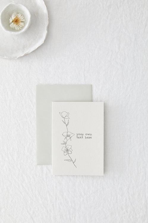 Simple flower bespoke
