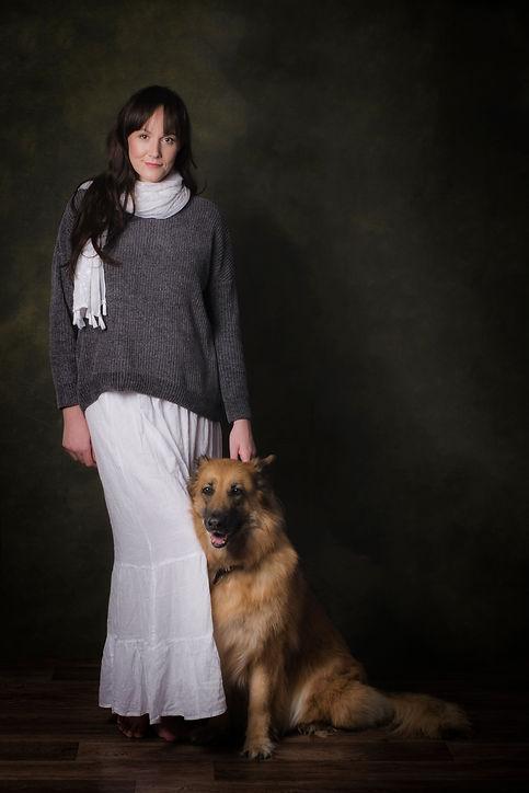 Pet owner photo shoot