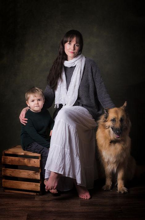Pet family photo
