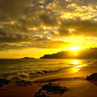 Kauai Sunrise at Secrets Beach
