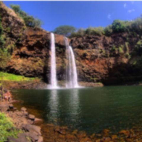 water fall on  Kauai Wailua Falls