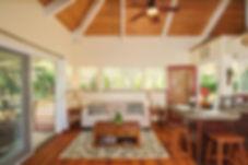 hale kokio vaation rental cottage living area
