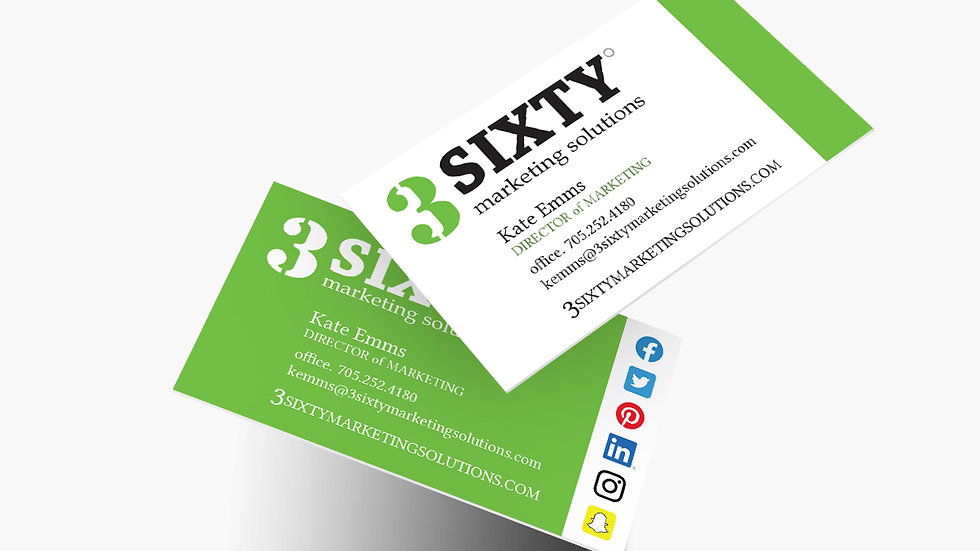 """500 Business Cards - 3.5""""x 2"""" - Double Sided"""