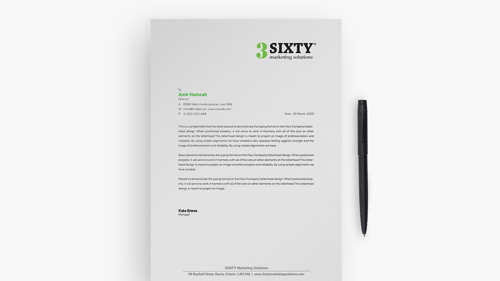 "1000 Letterheads - 8.5"" x 11"" - Single Sided - Colour"