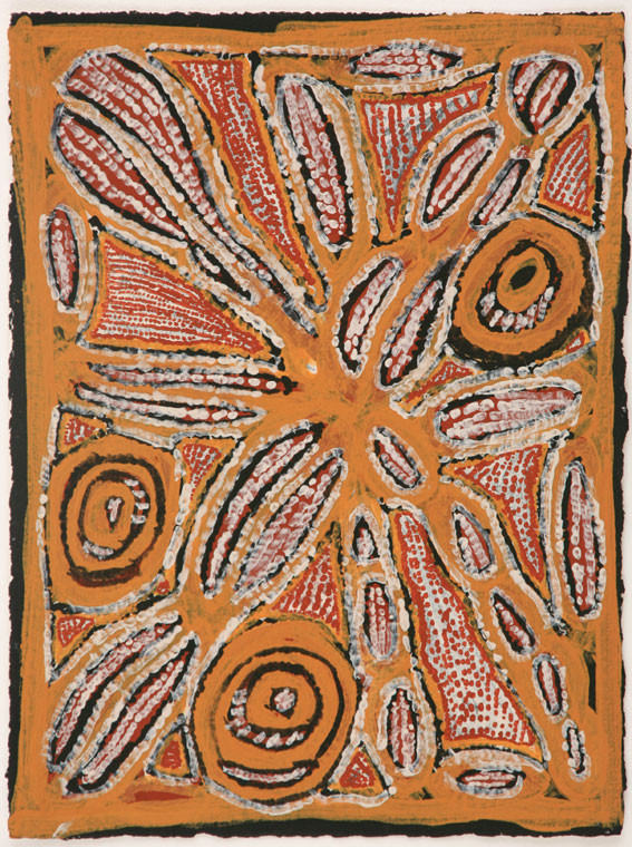 EM 542-28 2008 Natural Ochres & binder on paper 29x39cm