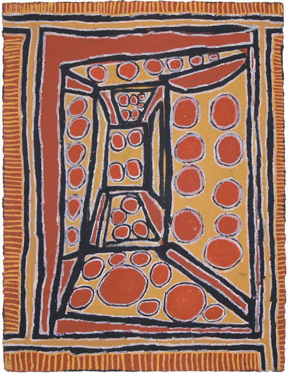 EM 470-27 2007 Natural Ochres & binder on paper 75x56cm