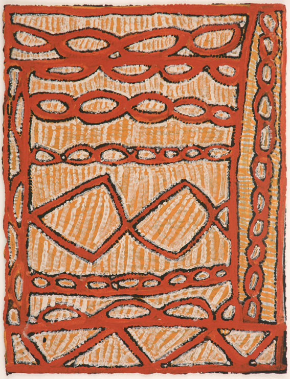 EM 534-28 2008 Natural Ochres & binder on paper 29x39cm
