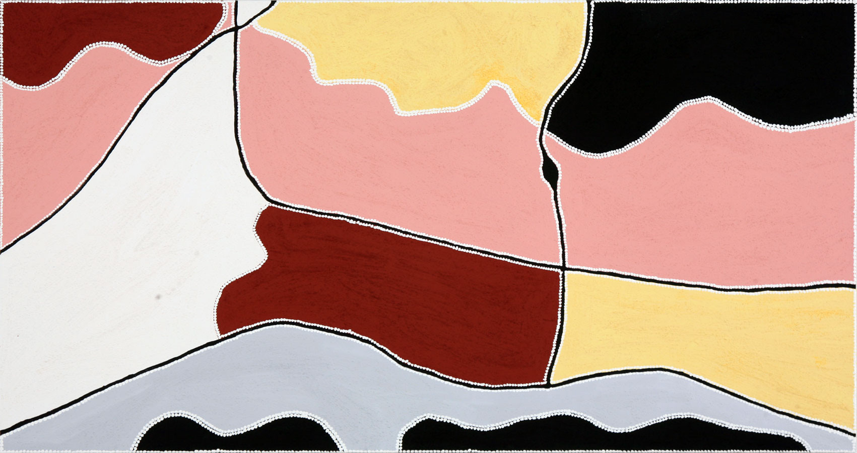 FT-2008-07-310 'Waterfall' 2008 Natural pigments & acrylic binder on linen 94x180cm
