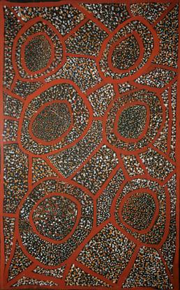 EM 335-24 Natural ochres & binder on canvas 80x50cm