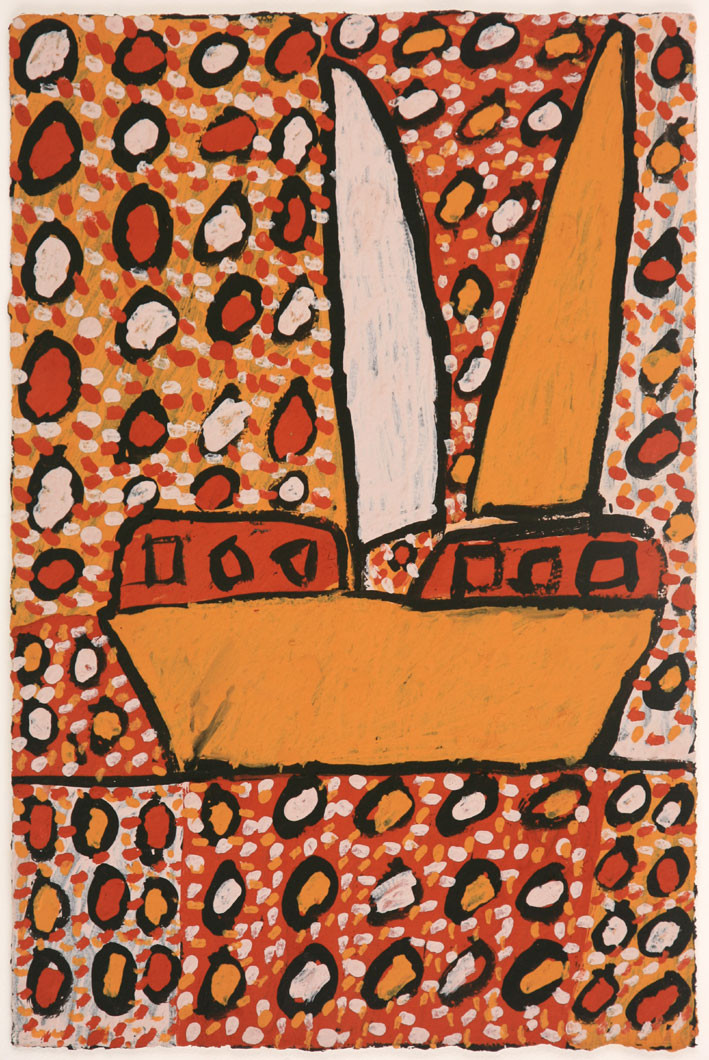 APU 450-28 2008 Natural Ochres & binder on paper 58x39cm