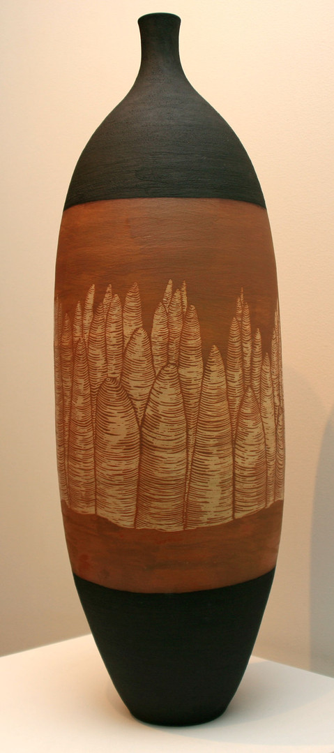 'Bungle Bungles I' Stoneware, Coil and throw method, Glaze matt 78x23cm