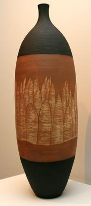 'Bungle Bungles I' Stoneware, Coil and throw method, Glaze matt 78x23cm
