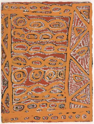 EM 543-28 2008 Natural Ochres & binder on paper 29x39cm