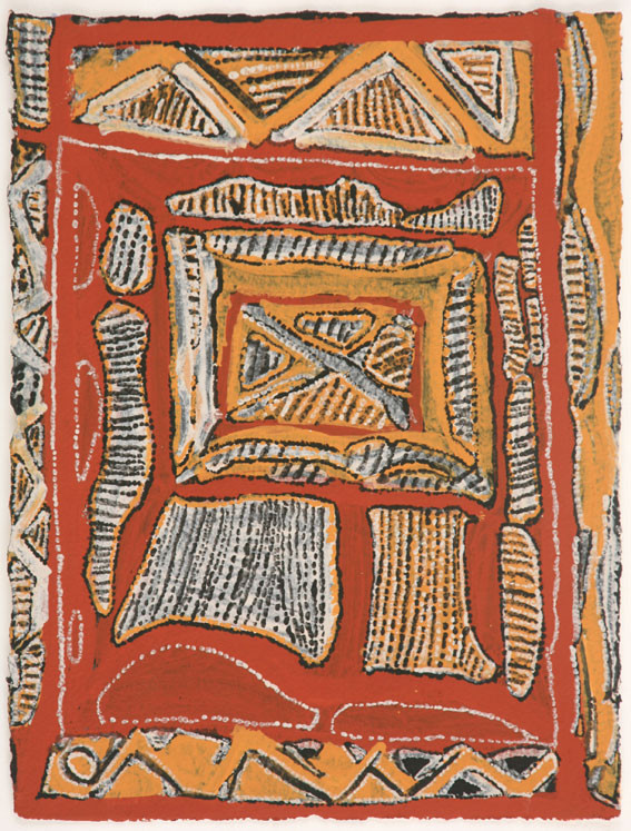 EM 527-28 2008 Natural Ochres & binder on paper 29x39cm