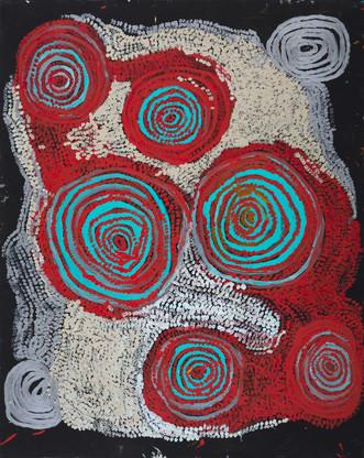 14-592 'Warmurrungu' 2014 acrylic on canvas 152 x 122cm