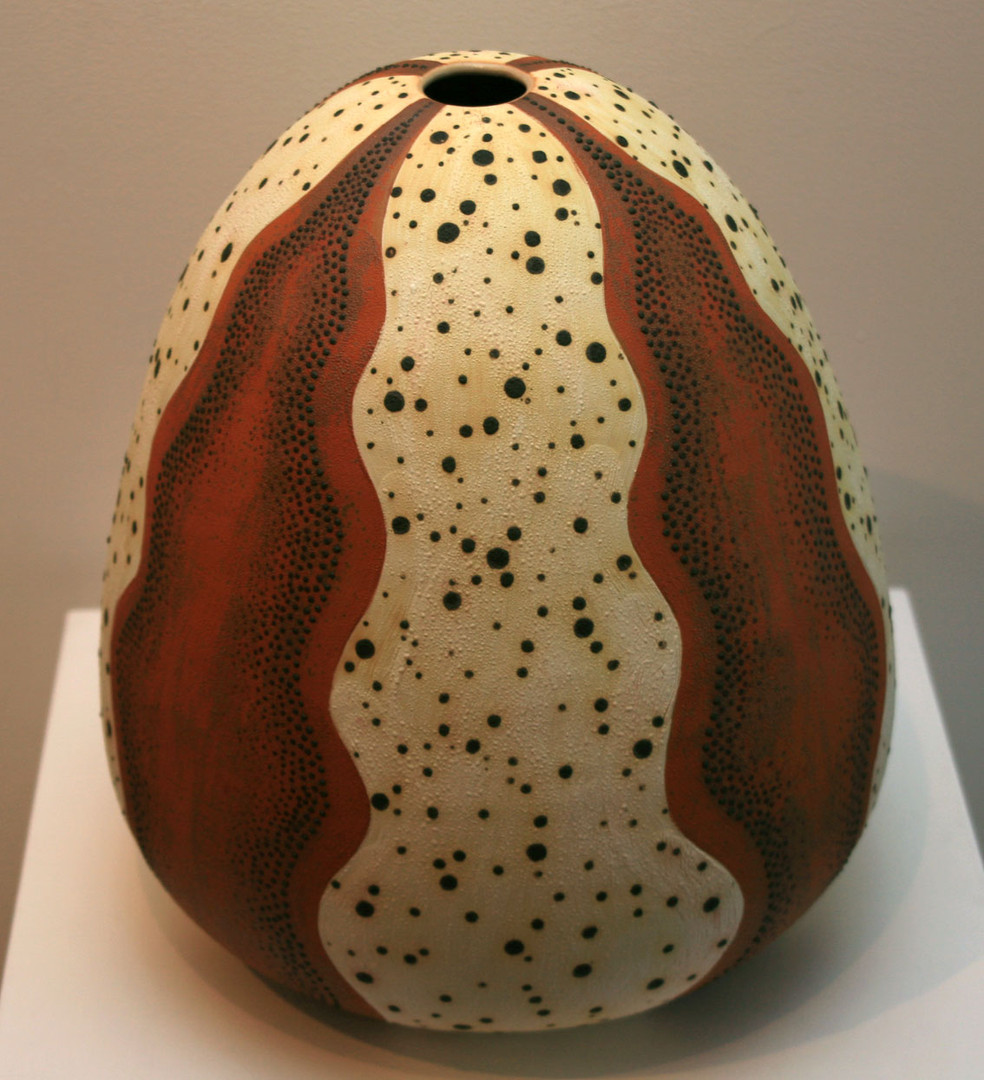 'Sea Urchin 3' 2008 Stoneware, Coil and Throw method, glaze matt 38x34cm