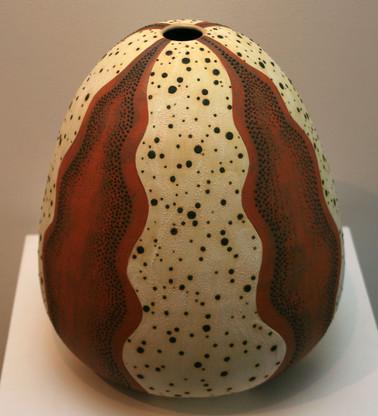 'Sea Urchin 3' 2008 Stoneware, Coil and Throw method, glaze matt 38x34cm