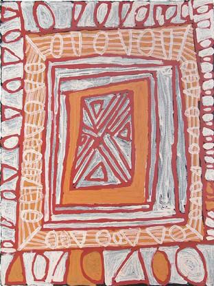 EM 376-25 2005 Natural Ochres & binder on paper 77x58cm