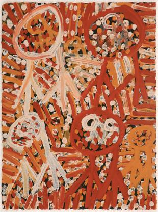 LOK 443-28 2008 Natural Ochres & binder on paper 29x39cm