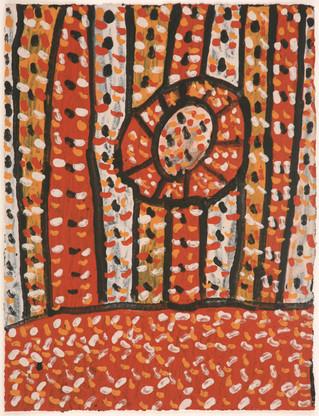 APU 431-28 2008 Natural Ochres & binder on paper 29x39cm