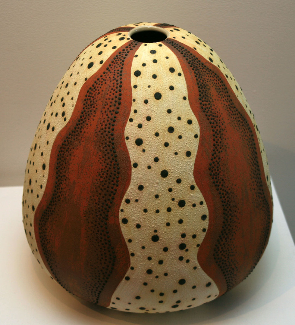 'Sea Urchin 1' 2008 Stoneware, Coil and Throw method, glaze matt 34x34cm