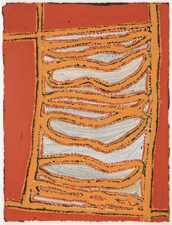 EM 521-28 2008 Natural Ochres & binder on paper 29x39cm
