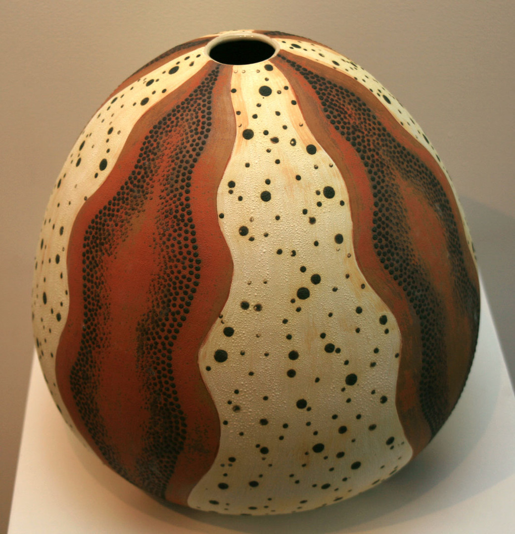 'Sea Urchin 2' 2008 Stoneware, Coil and Throw method, glaze matt 35.5x36cm