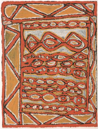 EM 538-28 2008 Natural Ochres & binder on paper 29x39cm