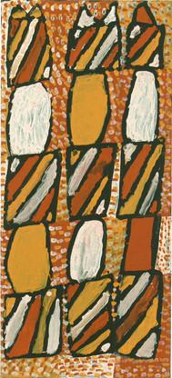 APU 393-27 2007 Natural Ochres & binder on canvas 100x45cm