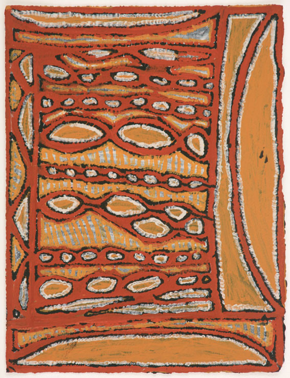 EM 536-28 2008 Natural Ochres & binder on paper 29x39cm
