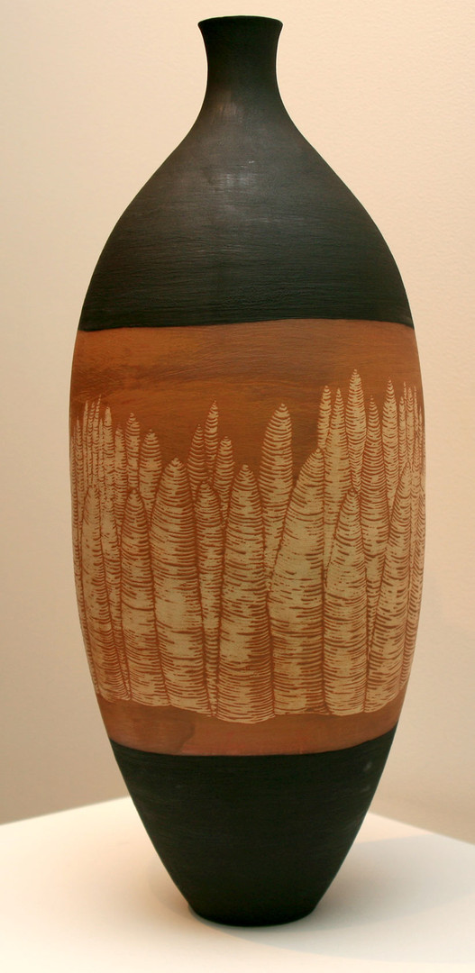 'Bungle Bungles II' Stoneware, Coil and throw method, Glaze matt 56x21cm