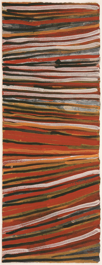 LOK 429-28 2008 Natural Ochres & binder on paper 76x29cm
