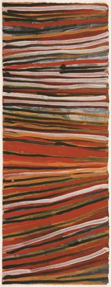 LOK 429-28 2008 Natural Ochres & binder on paper 76x29cm